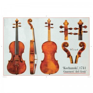 "Poster Guarneri del Gesù violin, ""Kochanski"" 1741"
