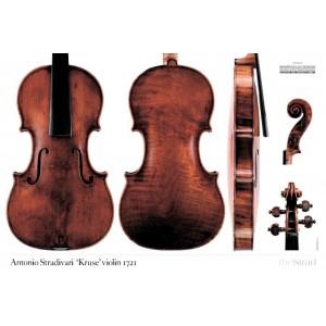 """Poster Stradivari Antonio violin, """"Kruse"""" 1721"""