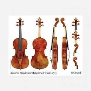 "Poster Stradivari Antonio violin, ""Huberman"" 1713"