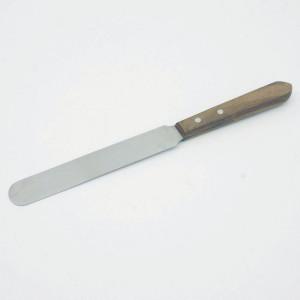 spatola in acciaio inox legno 250mm