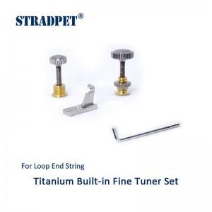 tiracantino integrato in titanio per asola, set violino e viola