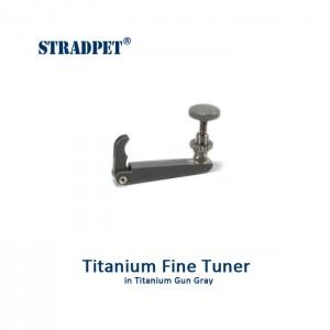 Titanium Fine Tuner, 3/4, 4/4 Violin, Gun Gray
