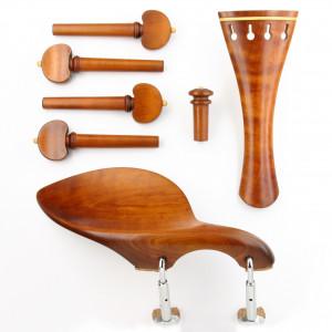 Superior violin set boxwood/boxwood, Baroque model