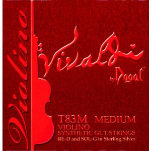 Dogal Vivaldi, Medium, E Chromesteel, D silver